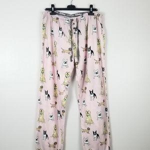 PJ Salvage Pink Dog 100% Cotton Pajama Pants XL